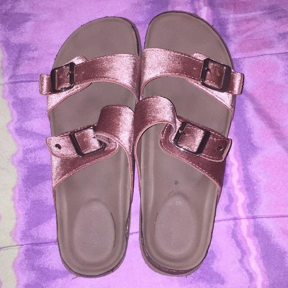 21842d559 Madden Girl Shoes - Women's 9 Madden Girl Brando-V Blush Velvet Slides